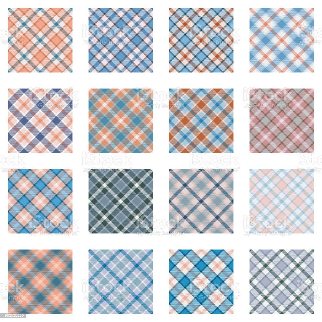 Coleção de padrões de xadrez - Vetor de Abstrato royalty-free
