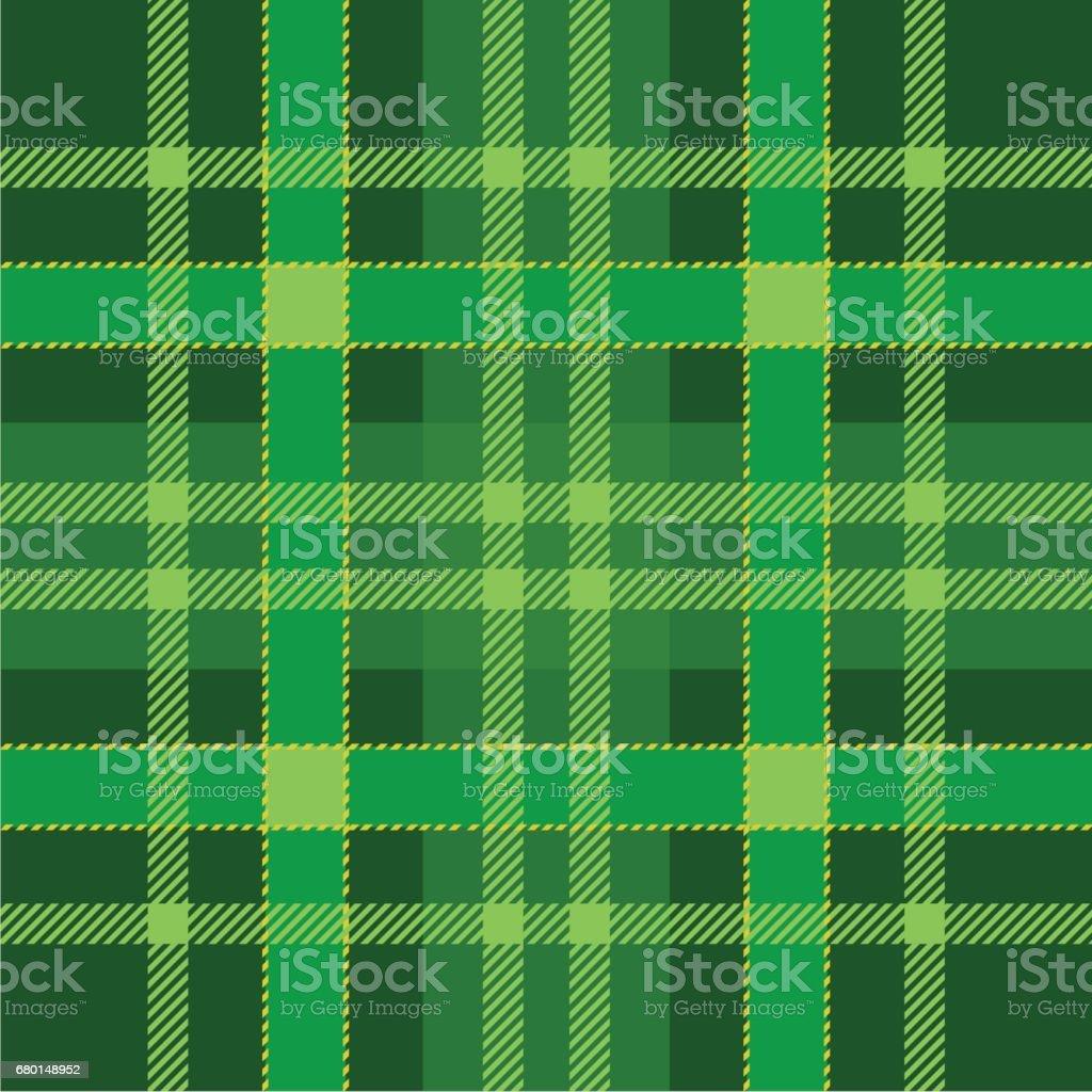 Ilustración de Patrón Transparente De Tela Escocesa Color Verde ...