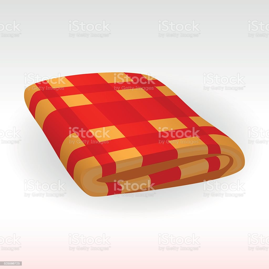 Plaid vector art illustration