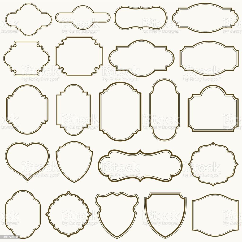 Plain Frames III vector art illustration
