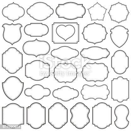 Set of simple frames vector illustration. Saved in EPS 8 file. Hi-res jpeg file included  (5000x5000).