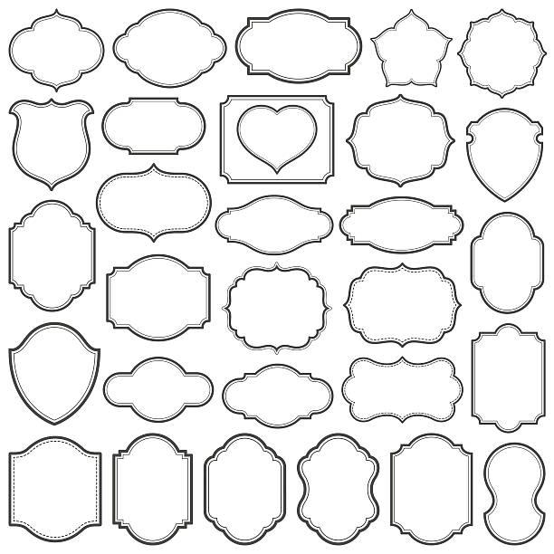 plain frames iv - 모양 stock illustrations