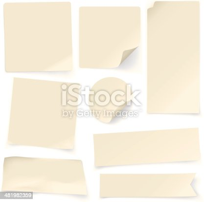 istock Plain Paper Notes 481982359