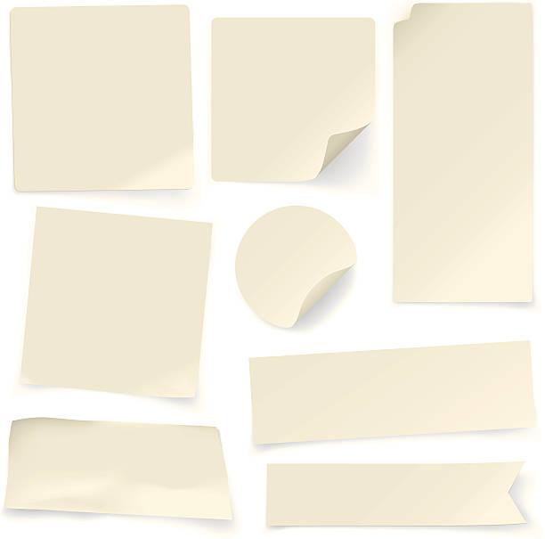 бумага для заметок бесцветной - письмо документ stock illustrations