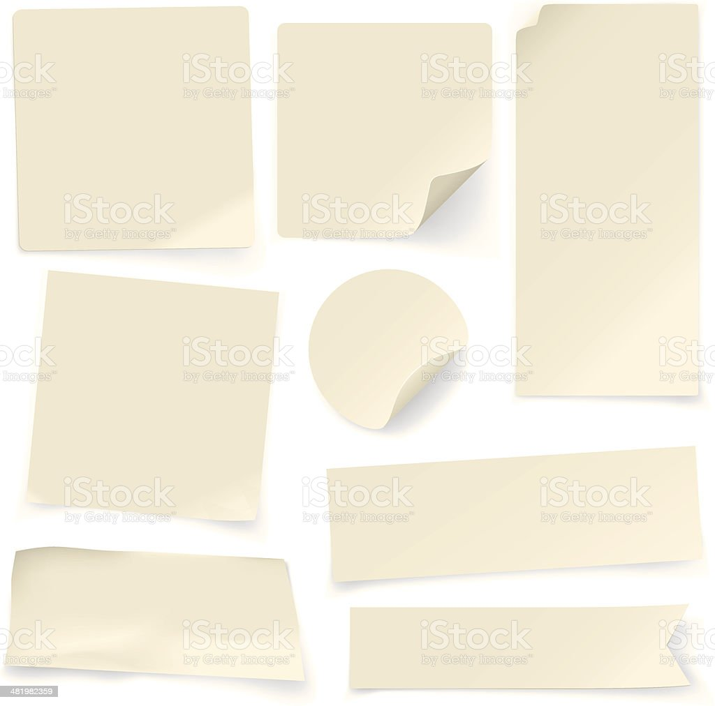 Plain Paper Notes vector art illustration