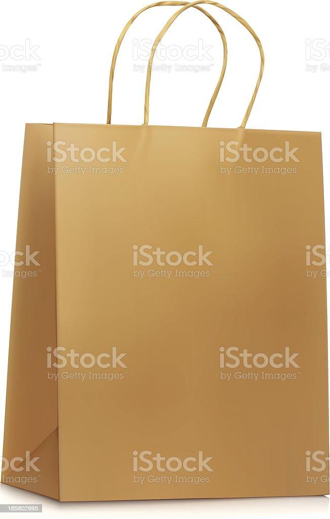 Plain Paper Shopping Bag vector art illustration