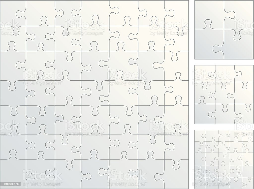 Plain puzzle pieces royalty-free stock vector art