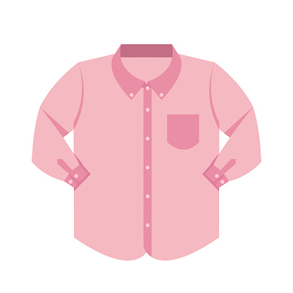 plain shirt clothes pink pastel color isolated on white background, pink clothes pattern plain flat simple, clip art of clothing long sleeve shirt, illustrations plain color long sleeve shirt front