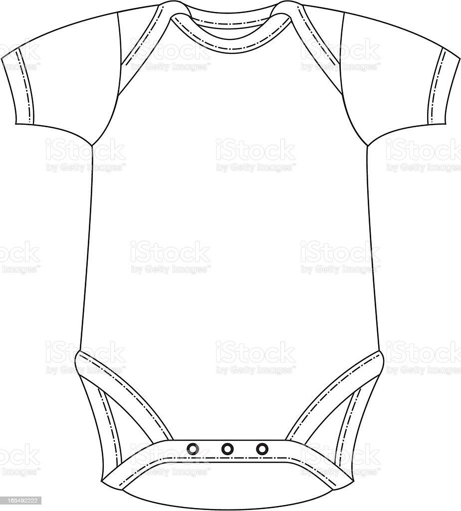 Plain Sleepsuit Template royalty-free stock vector art