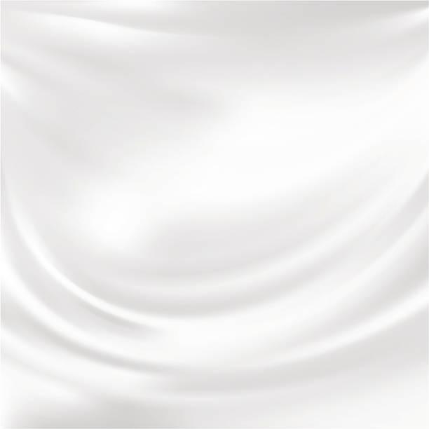 抽象的なベクトルの質感、ホワイトのシルク ベクターアートイラスト