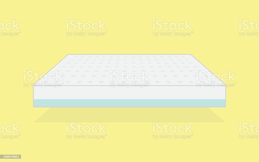 plain white mattress. vector art illustration