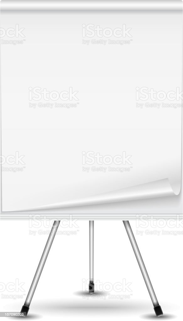 plain table chart. Plain White Sheet Of A Flip Chart On Stand Royalty-free Table