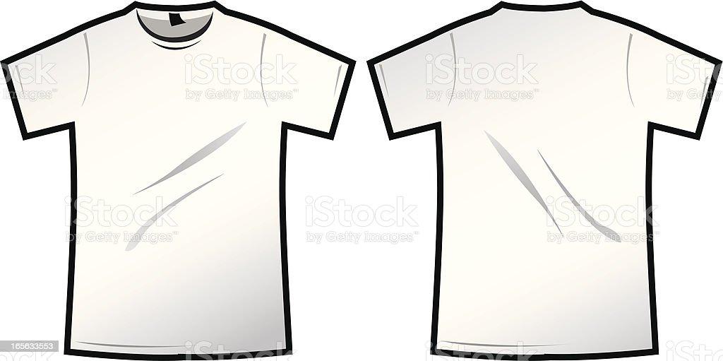 Plain white T vector art illustration