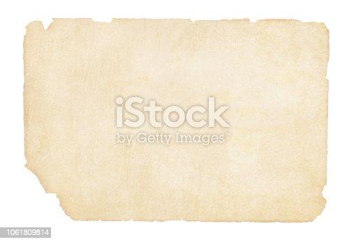 istock Plain  yellowish brown beige grunge paper background vector illustration 1061809814