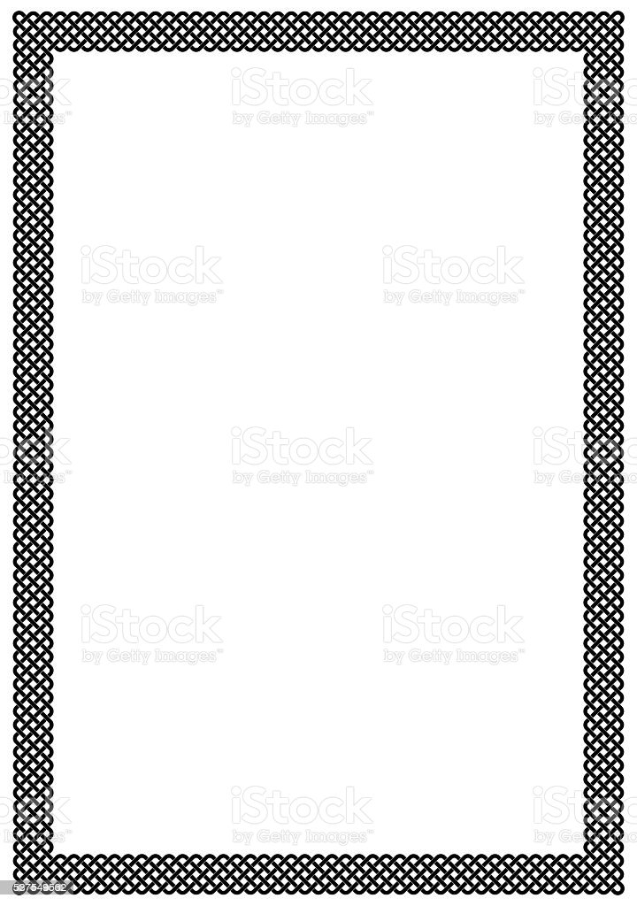 Plait frame blank page vector art illustration