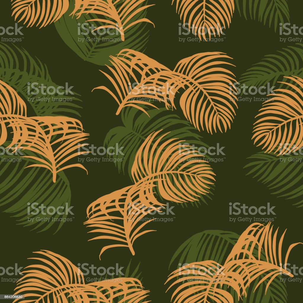 Plam leaf vector pattern on vintage background royalty-free plam leaf vector pattern on vintage background stock vector art & more images of areca