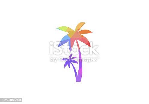 Plam tree, Plam tree icon vector