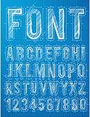 Plan alphabet design font