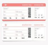 Plane boarding pass