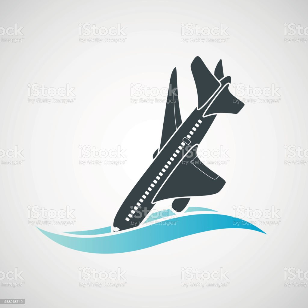 Plane Crash Icon A Terrorist Act Stock Vector Art & More Images of ...