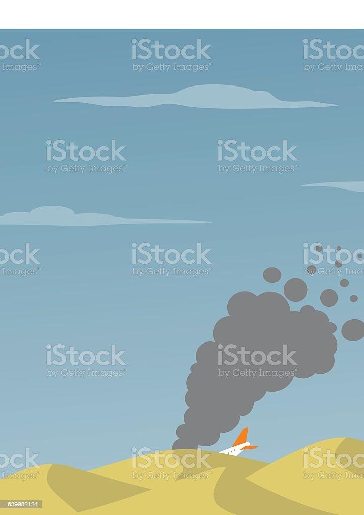 plane crash vector art illustration