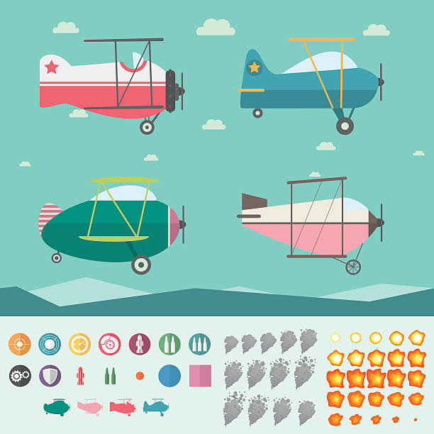 Royalty Free Remote Control Plane Clip Art, Vector Images ...