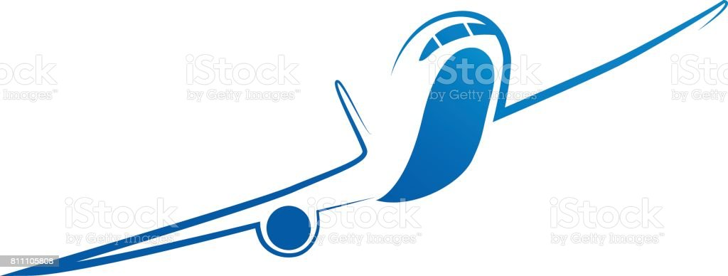 Plane icon set. Vector air travel icons vector art illustration