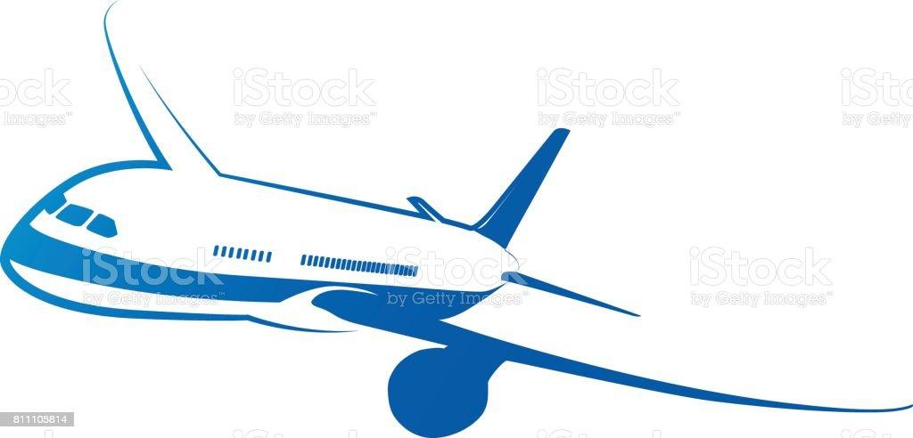 Plane icon set. Vector air travel icons vector art illustration