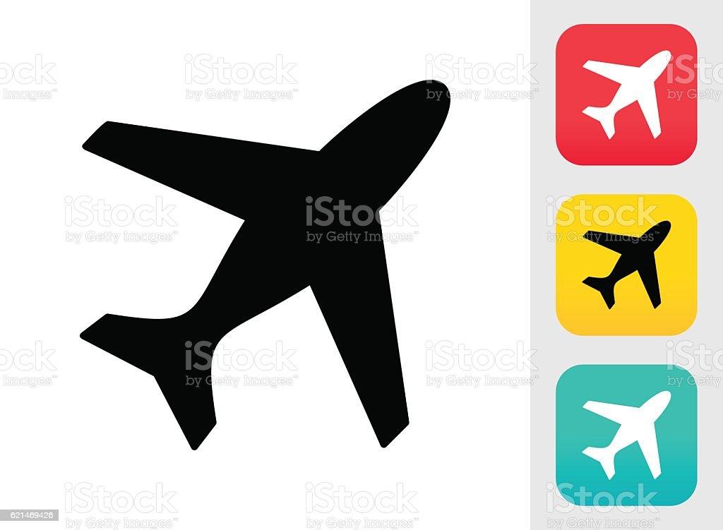 Flugzeug Icon Stock Vektor Art und mehr Bilder von Farbbild ...