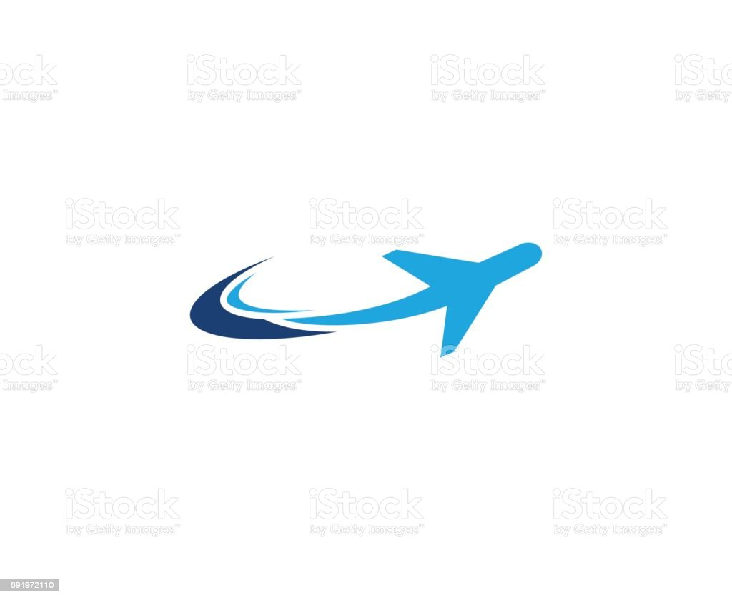 Plane icon vector art illustration