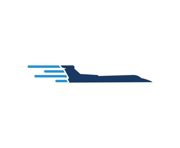 plane icon - commercial airplane stock illustrations