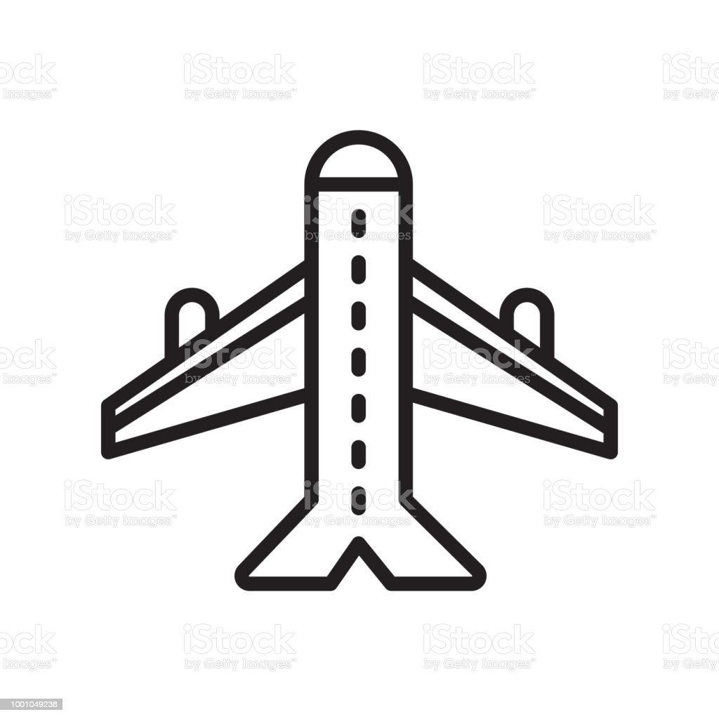 Plane Icon Vector Sign And Symbol Isolated On White Background Plane