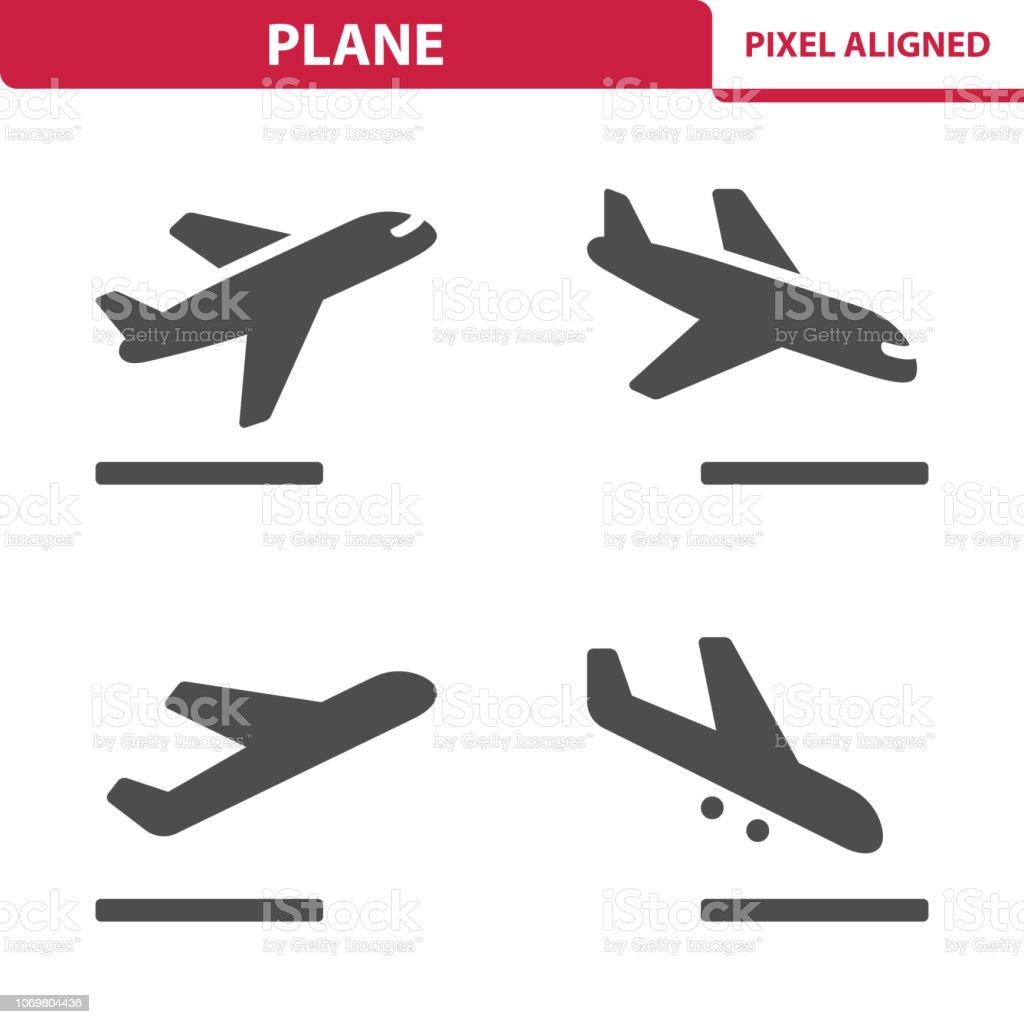 Plane Icons vector art illustration
