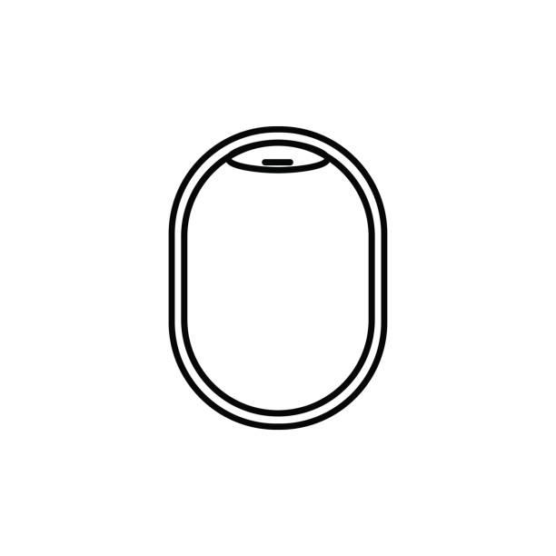 plane illuminator icon vector art illustration