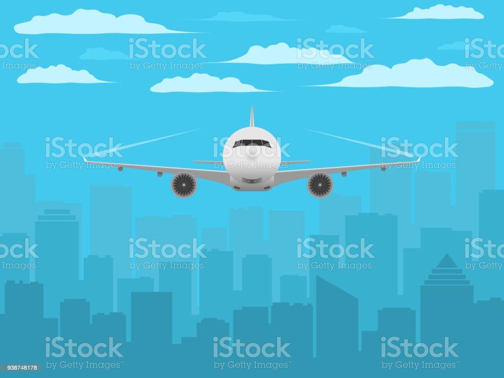 Flugzeug Realistic Foto Art