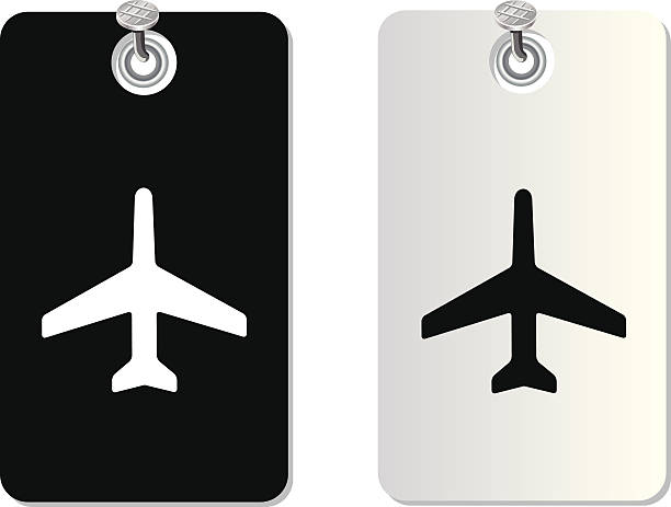 plane label tag plane label tag for use aviation and environment summit stock illustrations