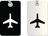 plane label tag