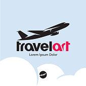 istock Plane logo. Travel 962701210