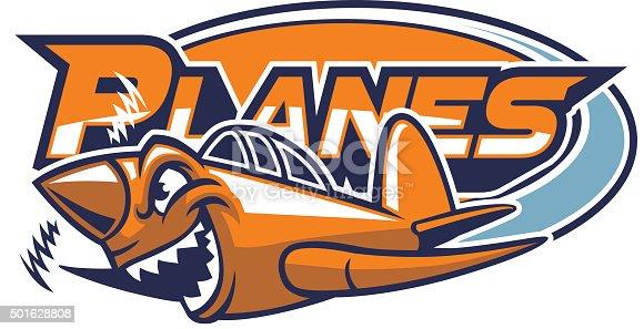 vector of plane mascot