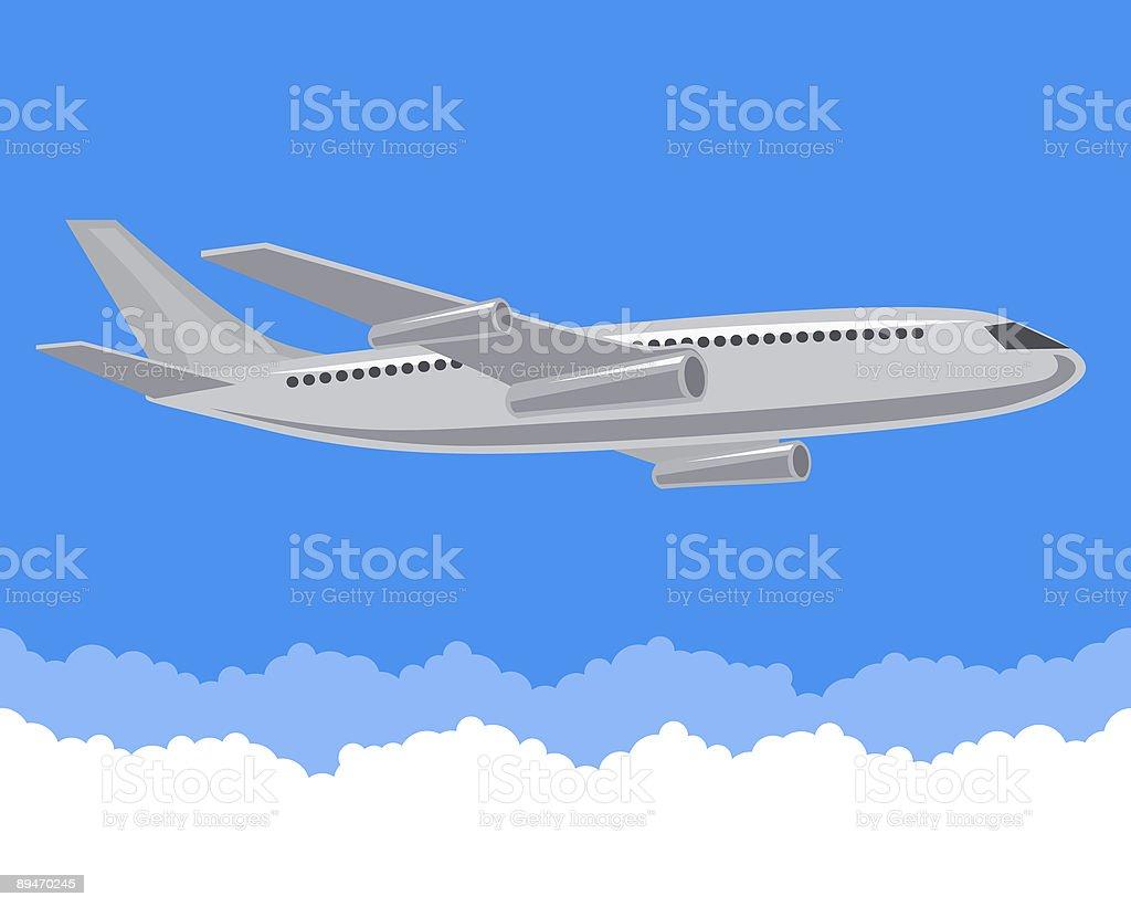 Plane over clouds royalty-free plane over clouds stok vektör sanatı & bulut'nin daha fazla görseli