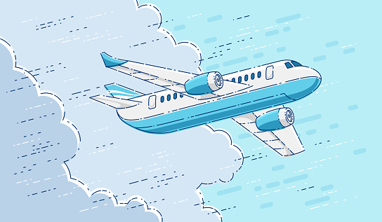 Airplane stock illustrations