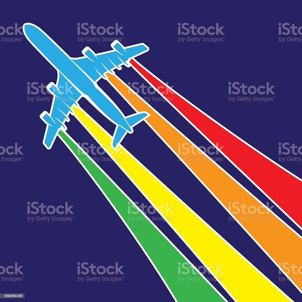 plane symbol colorful vector art illustration