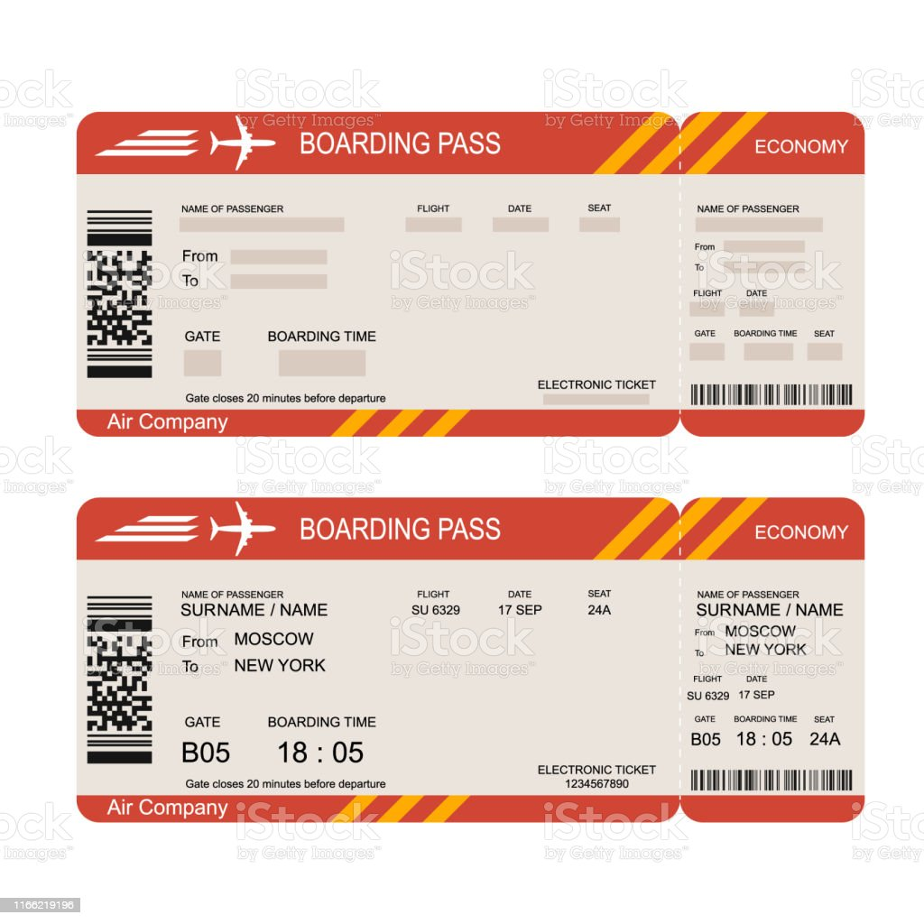 Flight Ticket Printable - United Airlines and Travelling