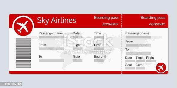 Blank Plane Ticket Clipart Kostenloser Download