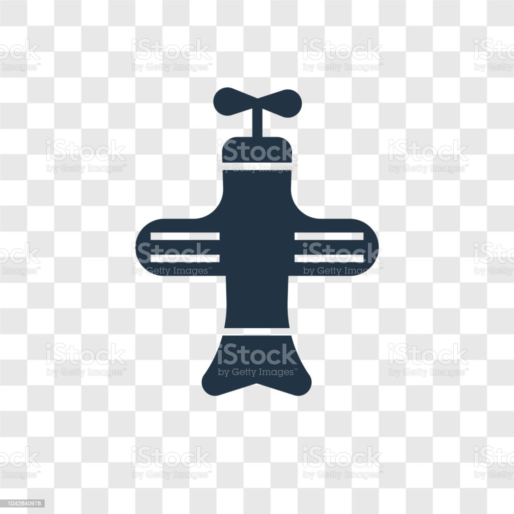 Plane Toy Vector Icon Isolated On Transparent Background Plane Toy
