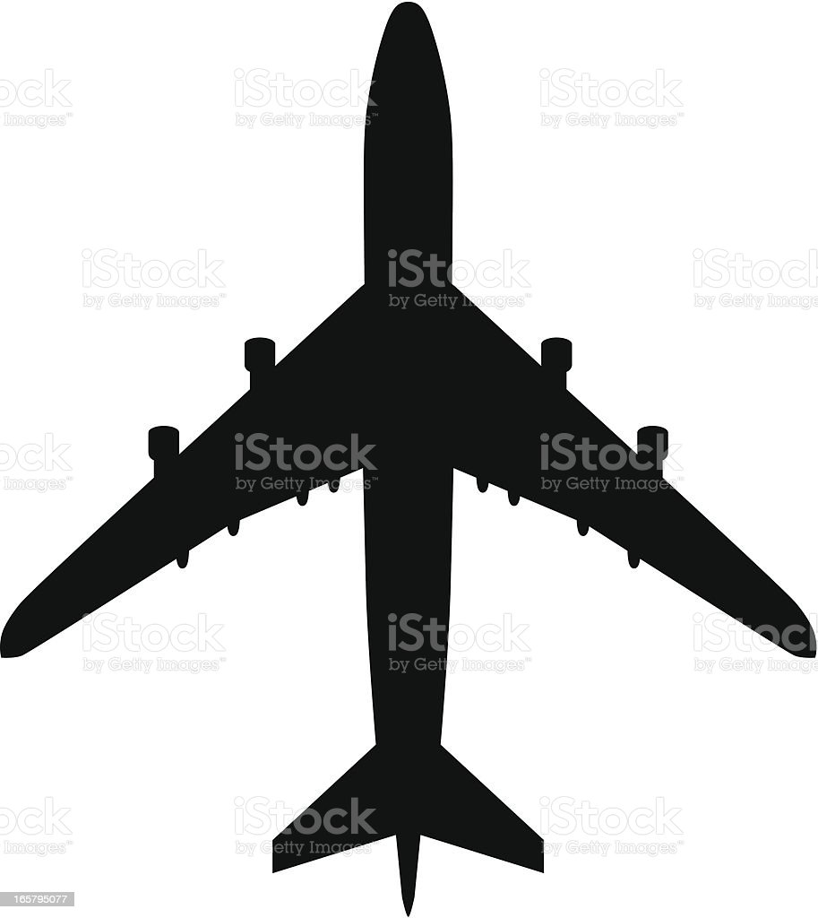 Plane vector art illustration