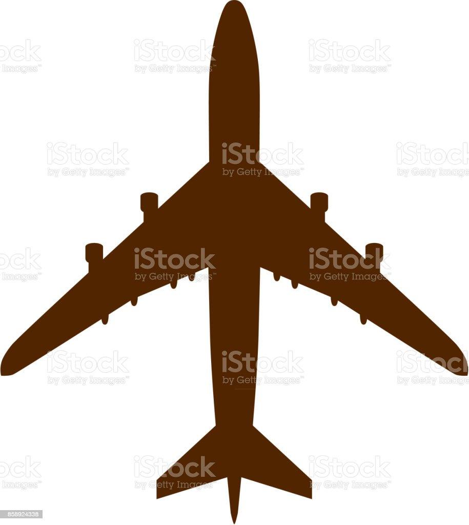 Plane vector art illustration