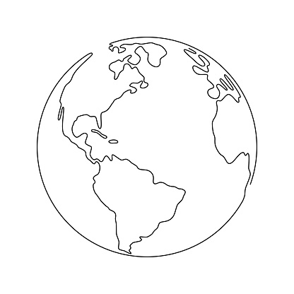 Planer Earth one line icon