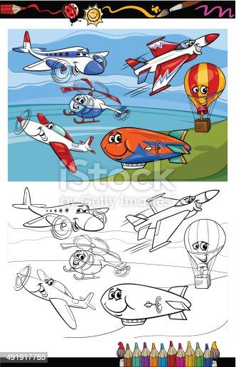 istock Libro de colorear, avión 999159678 istock Libro de colorear ...