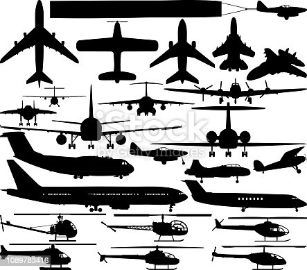 Planes and helicopters.